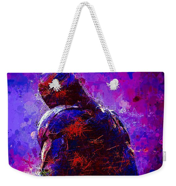 Weekender Tote Bag featuring the mixed media Ultron by Al Matra