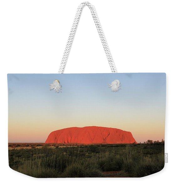 Uluru At Sunset Weekender Tote Bag