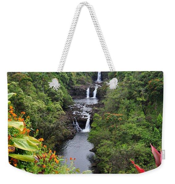 Umauma Falls Hawaii Weekender Tote Bag