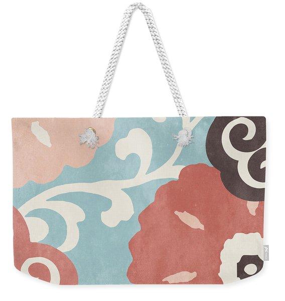 Umbrella Skies I Suzani Pattern Weekender Tote Bag