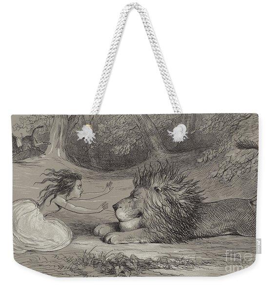 Una And The Lion  Weekender Tote Bag