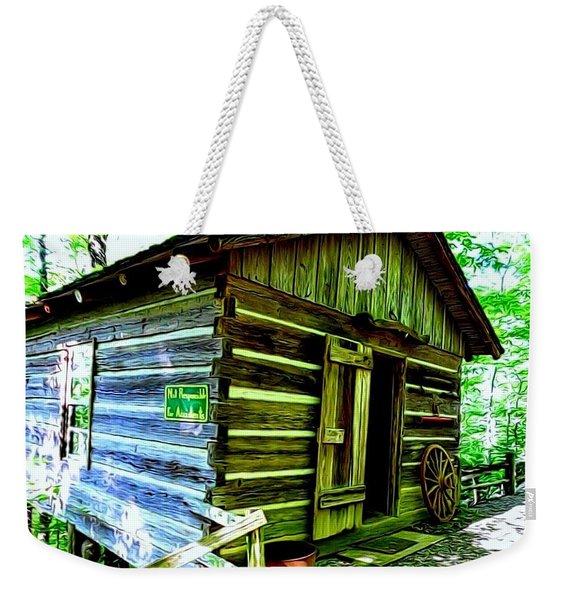 Uncle John's Cabin Weekender Tote Bag