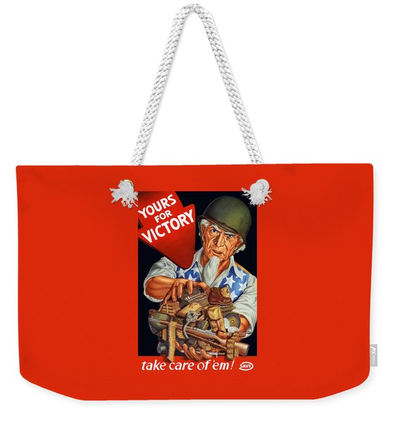 Uncle Sam - Yours For Victory Weekender Tote Bag