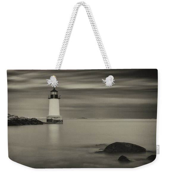 Weekender Tote Bag featuring the photograph Under A Pale Grey Sky by Brian Hale