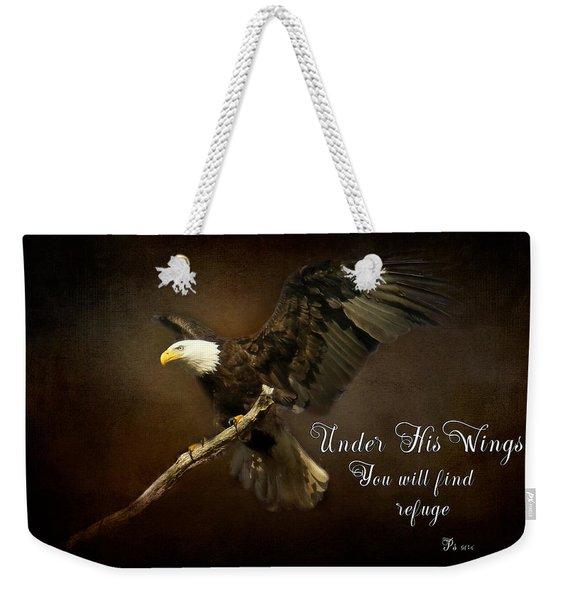 Under His Wings Weekender Tote Bag