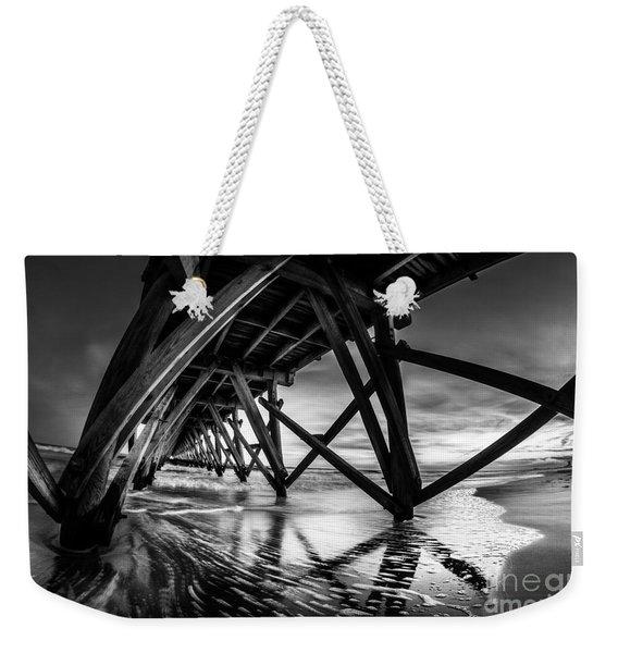Under Sea Cabin Pier At Sunset Weekender Tote Bag