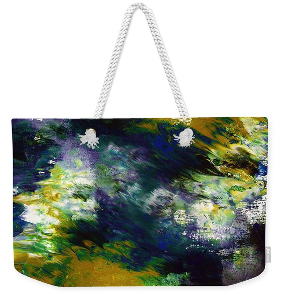 Under The Canopy 2- Abstract Art By Linda Woods Weekender Tote Bag