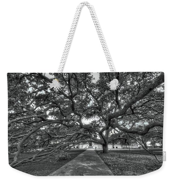 Under The Century Tree - Black And White Weekender Tote Bag
