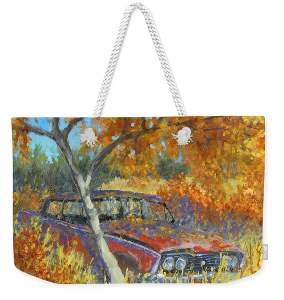 Under The Chinese Elm Tree Weekender Tote Bag