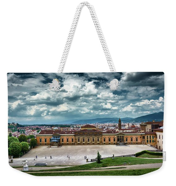 The Meridian Palace And Cityscape In Florence, Italy Weekender Tote Bag