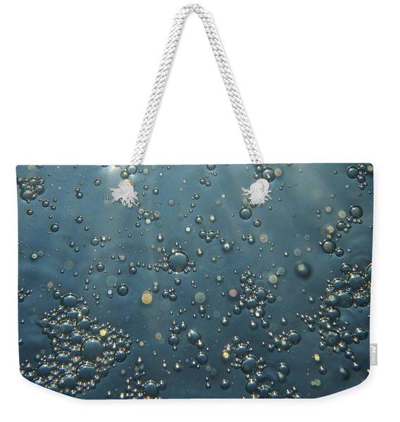 Underwater Bubbles Weekender Tote Bag