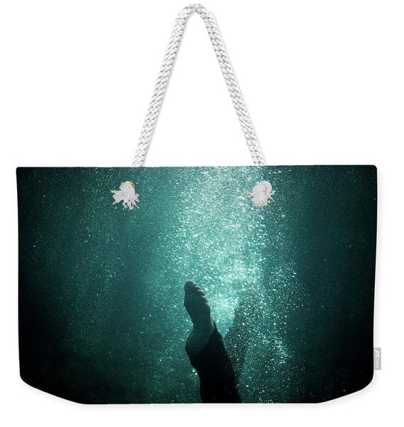 Underwater Foot Weekender Tote Bag