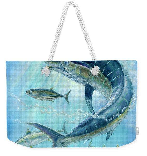 Underwater Hunting Weekender Tote Bag