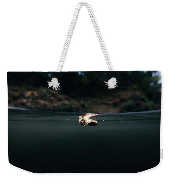 Underwater Leaf Weekender Tote Bag