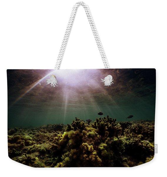 Underwater Sunset Weekender Tote Bag