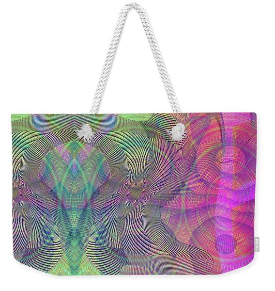 Weekender Tote Bag featuring the digital art Underwater World I by Visual Artist Frank Bonilla