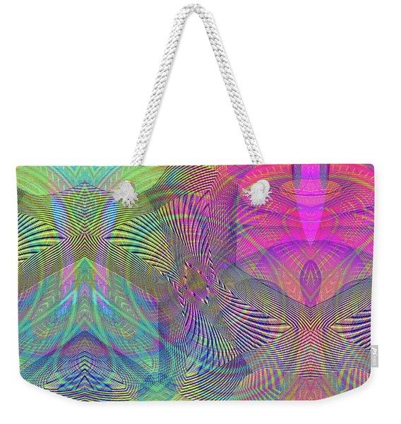Weekender Tote Bag featuring the digital art Underwater World II by Visual Artist Frank Bonilla