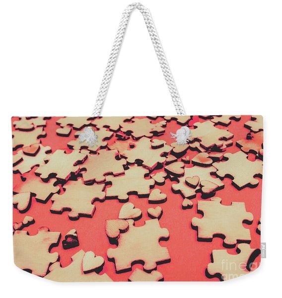 Unfinished Hearts Weekender Tote Bag