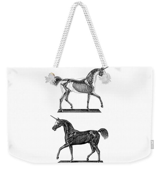 Unicorn Anatomy Weekender Tote Bag