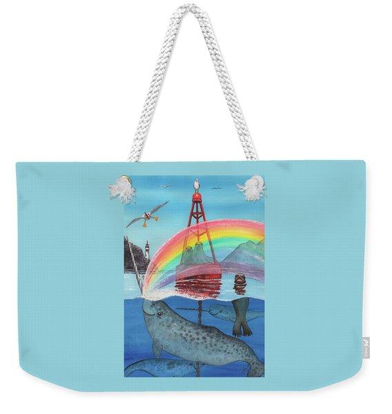 Unicorn Of The Sea Weekender Tote Bag
