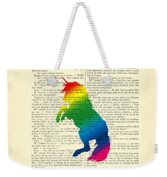 Unicorn Rainbow - Magical Quote Weekender Tote Bag