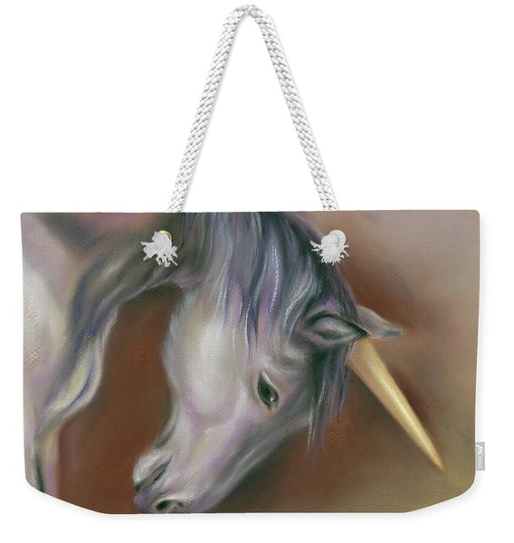 Unicorn With A Golden Horn Weekender Tote Bag