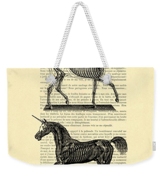 Unicorns Anatomy Weekender Tote Bag