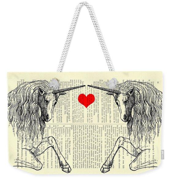 Unicorns Love Weekender Tote Bag