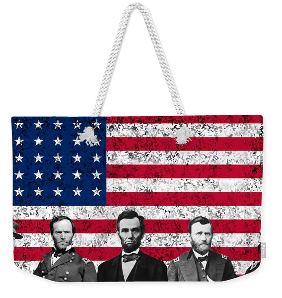 Union Heroes And The American Flag Weekender Tote Bag