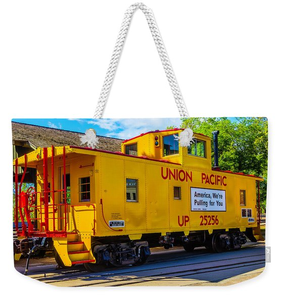 Union Pacific Caboose Weekender Tote Bag