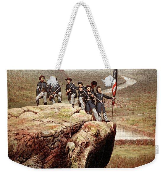 Union Soldiers On Lookout Mountain, Tennessee Weekender Tote Bag