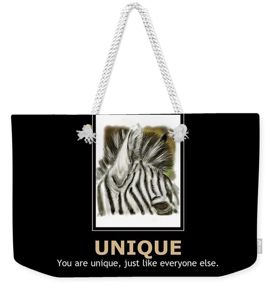 Unique Motivational Poster Weekender Tote Bag