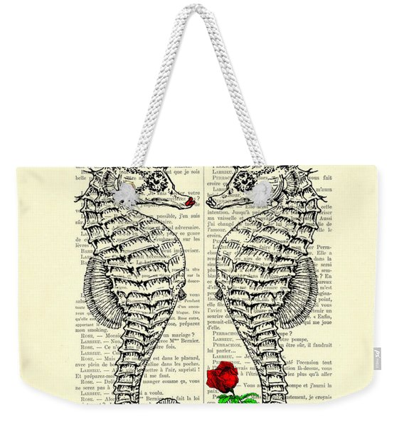 Unique Valentines Day Gift Ideas, Seahorses Weekender Tote Bag