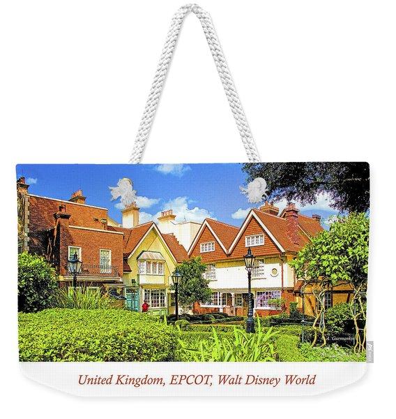 United Kingdom Buildings, Epcot, Walt Disney World Weekender Tote Bag