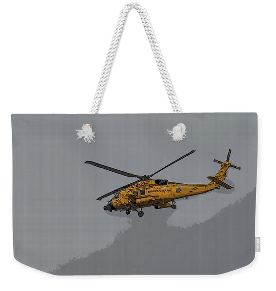 United States Coast Guard Helicopter Weekender Tote Bag
