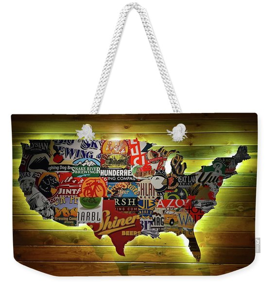 United States Wall Art Weekender Tote Bag