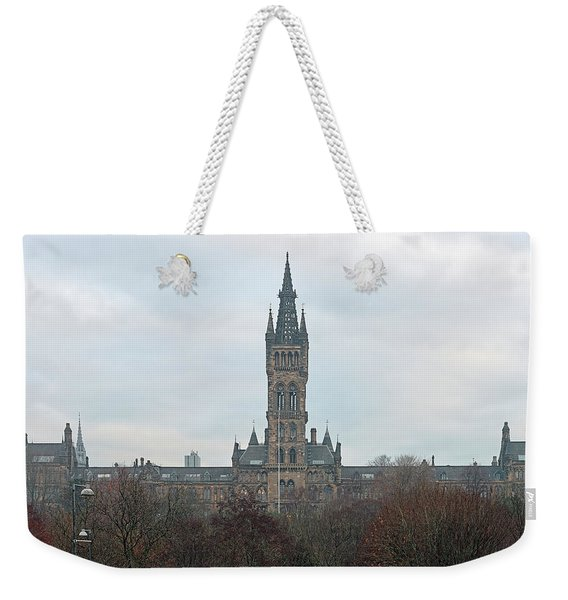 University Of Glasgow At Sunrise - Panorama Weekender Tote Bag