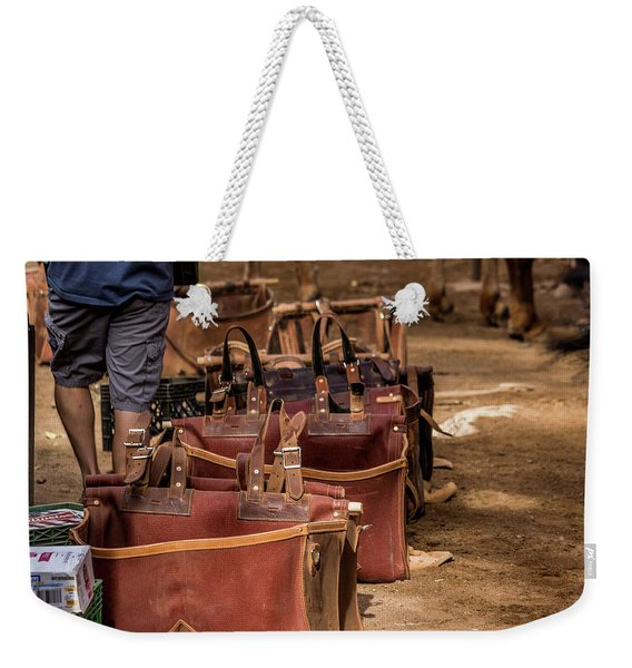Unloading Mules At Phantom Ranch Weekender Tote Bag