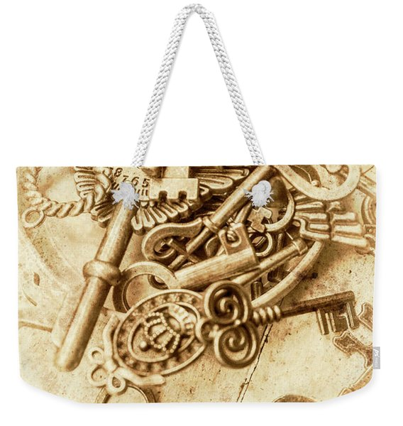 Unlocking The Past Weekender Tote Bag