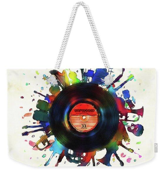 Unplugged Weekender Tote Bag
