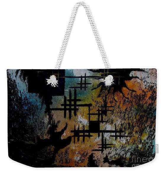Cross Line Weekender Tote Bag