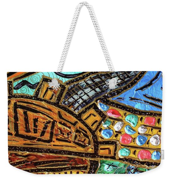 Untitled Olmec And Tehuti Weekender Tote Bag