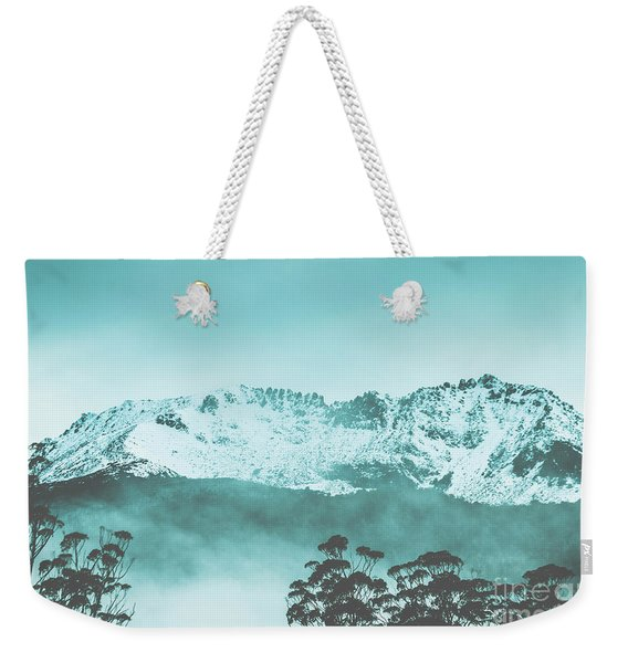Untouched Winter Peaks Weekender Tote Bag