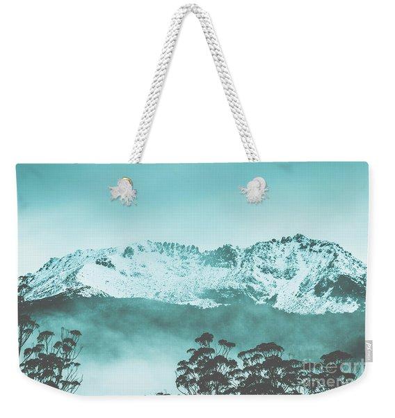 Untouched Winter Peaks Weekender Tote Bag