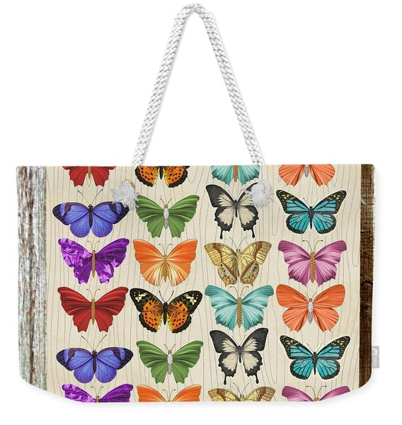 Colourful Butterflies Collage Weekender Tote Bag