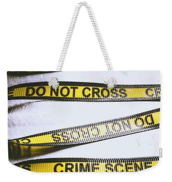 Unwrapping A Murder Investigation Weekender Tote Bag