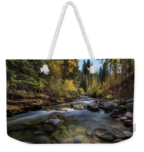 Up A Colorado Creek Weekender Tote Bag