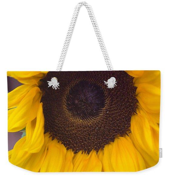 Up Close Sunflower Weekender Tote Bag