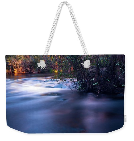 Up Stream Weekender Tote Bag
