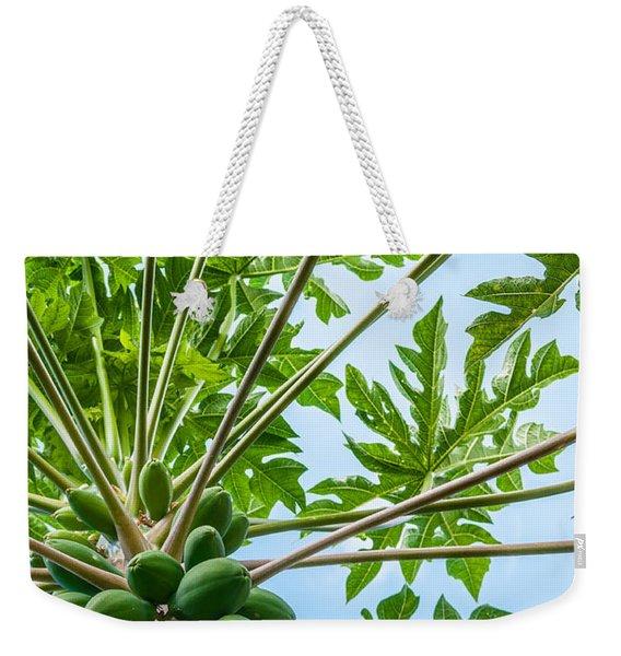 Up The Papaya Weekender Tote Bag